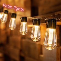Solar Lamps LED Light String Outdoor Lighting Decorative Bulb 1P65 Waterproof Patio Holiday Garden Wreath Decoration