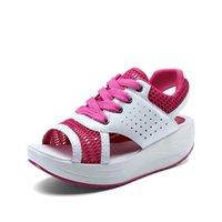 Dress Shoes Mesh Brerathable Wedges Platform Casual Summer Ladies Woman Hook Loop Sandalias Mujer Female Drop Women Sandals