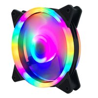 Fans & Coolings PC 4 Pin 120mm Computer Case Fan Silent 12CM CPU Cooling RGB Quiet Cooler 12V DC Adjust Speed