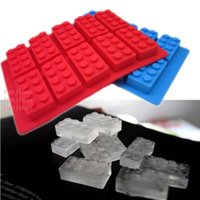 Food Grade Block Ice Mold Creative Gummy Candy Chocolate Summer Ice Tray Mould Building Block Themes Kitchen Bar DIY Accessories VT1526