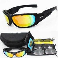 النظارات التكتيكية المستقطبة ديزي C6 نظارات العسكرية نظارات شمسية مع 4 عدسة الرجال اطلاق النار نظارات gafas دراجة نارية
