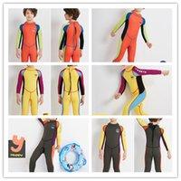 2021 2.5 мм неопреновый гидрокостюм ныряющий мокрый костюм детские купальники цельные с длинным рукавом солнцезащитный крем теплые дети гидрокостный мальчики