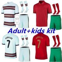 남자 키트 키트 호나우두 축구 유니폼 2021 Joao Felix Diogo J Bernardo 21 22 Fernandes National Team Football Shirt