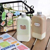 10шт чистый красный 400 мл молочный чай ледяной кофе бутылка для кофейной бутылки PET пластиковый холодный напиток Milkshake Yogurt Cup DIY клубничный сок упаковка одноразовые чашки