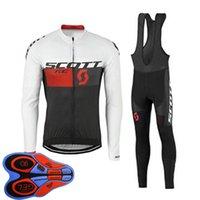 جودة عالية سكوت فريق الدراجات طويلة الأكمام جيرسي مريلة السراويل أطقم الرجال دراجة ملابس الطريق دراجة موحدة في الهواء الطلق الرياضية Y20101601