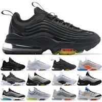 Toptan ZM950 Koşu Ayakkabıları Erkekler Kadınlar Üçlü Siyah Beyaz Neon Pembe Mutil Kurt Gri Moda Erkek Eğitmenler Atletik Spor Sneakers Boyutu 36-45