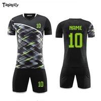 Jerseys de fútbol de fútbol de bricolaje Conjunto de uniformes de fútbol para hombre Conjunto de fútbol personalizado Camisas y pantalones cortos Sets de deportes adultos Traje 2019 2020 Nuevo