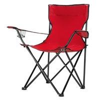 Silla de camping plegable fácil de llevar Taburete al aire libre de viaje de peso ligero rojo