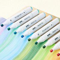 Подсветки кисти, маркеры на основе алкоголя, маркеры на основе алкоголя, ручки на основе двойного рукава, люминесцентные маркеры, художественные материалы для