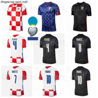 2021 Europa Cup Crocca Soccer Jersey National Team 10 Modric 4 Perisic 7 Rakitic 9 Kramaric 17 Mandzukic 8 Kovacic 18 Rebic Football قميص أطقم يورو التصحيح موحدة