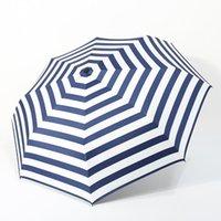 Umbrellas Diniwell Navy-Stripes Pliant Parapluie Pluie pour hommes Résistant au vent Revêtement noir Revêtement Parasol Femmes Big Educole Bleu