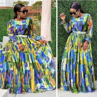 Spring 2021 Dinner Maxi Dresses For Women African Autumn Elegant Gown Flowers Printed Dashiki Long Dress Ladies Clothing Ethnic