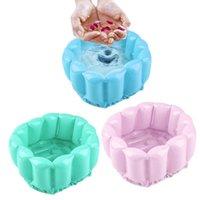 Bathing Tubs & Seats Foot Feet Soak Bath Inflatable Basin Wash Spa Home Use Pedicure Care Relax Household Barrel Massage