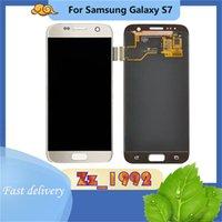"""Cep Telefonu Dokunmatik Paneller 5.1 """"Samsung Galaxy S7 için Orijinal LCD Ekran Digitizer Meclisi Yedek Onarım Parçası Çerçeve Olmadan"""