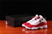 En Kaliteli Jumpman 6 6 S Kırmızı Ve Beyaz Yüzük Basketbol Tasarımcı Ayakkabı Hakiki Deri Spor Açık Sneakers Boyutu 36-47.5 Gemi Kutusu Ile