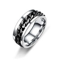 New simple transfer jewelry men's titanium steel rotatable beer bottle personalized hand ring