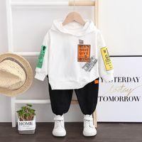 Çocuk Erkek Giyim Setleri Erkek Suits Erkek Bebek Giysileri Yürüyor Giysileri Üst Hoodies + Pantolon Çocuk Giysileri