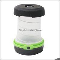 Портативный и похожий на спортивные спорты OutdoorsStable Lanterns LED складные камеры Световые огни Складной Свет 3 Режимы Водонепроницаемый палаточный факел Наружный свет