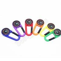 Mini colorido mini carabiner plástico multi função líquido compasso para camping ao ar livre caminhadas fivela de montanhismo 2121