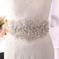 Wedding Sashes ZMSH240-S Dress Belt Rhinestone SilverFlowers For Dresses Bridal Belts Prom Women's Fashion Bride's Accessories