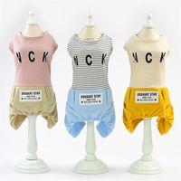 Fashion Cotton Pet Clothes Casual Striped Bib Pants For Dog Chihuahua Pomeranian Onesie Clothing Supplies Apparel