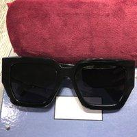 Moda Tasarımcısı Güneş Gözlüğü Erkekler Kadınlar Için Plaka Kare Çerçeve Güneş Gözlükleri 0630S Klasik Tüm Siyah Geniş Tapınaklar Altın Harfler Anti-Uv Göz Koruma Kutusu ile