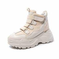 Женщины Коренастые кроссовки 2019 Весна осень повседневный крючок петли высокие каблуки платформы обувь для женщины коренастые кроссовки женские туфли мужские мокасины купить обувь H7OL #