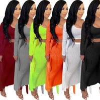 Sexy Women Tracksuits 3 Piece Set Tube Top Coat Pants Solid Color Long Sleeve Casual clothing S-XXL