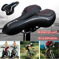 Bike Saddles Saddle Silicone Cushion Pu Leather Surface Silica Filled Gel Comfortable Cycling Seat Shockproof Bicycle #41