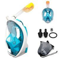 Subaquático Mergulho Anti Nevoeiro Full Face Máscara Máscara Snorkeling Snorkeling Máscaras Respiratórias Seguro e Impermeável Equipamento de Natação