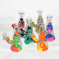 Hookahs Glass Water Pipe Dab rig Silicone bong portable hookah unbreakable silicon smoking pipes style Via DHL