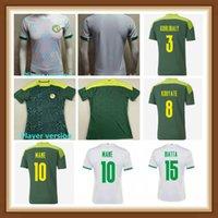 Versión del jugador Senegal Soccer Jerseys 2021 Hogar de Fútbol Nacional Mane Koulibaly Gueye Kouyate Sarr Homme Maillot De Pie Men Adult Uniforms