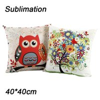 Sublimation white Pillow Case DIY pillow cases 40cm*40cm sofa chair cushions Heat Transfer Printing Blank Pillowslip Without PP Cotton