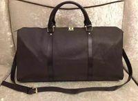 55cm Designer de marca de luxo sacos totais malas malas de viagem saco pu bolsa de bagagem bolsas de bagagem grande capacidade de esportes polochon sacos de viagem