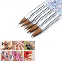 Nail Brushes Art Brush Tools Set Crystal Handle Acrylic UV Gel Glitter Drawing Painting Carving Flower Pens Nails