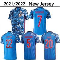 21 22 Japonya Milli Takımı Okazaki Kagawa Erkek Futbol Formaları 2021 2022 Honda Hasebe Nagatomo Ev Mavi Futbol Gömlek Üniformaları