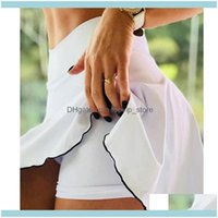 moldando roupas de yoga exercício desgaste atlético ao ar livre vestuário outdoorsummer esportes mulheres slim cintura alta saia fitness curta corrida tênis legging