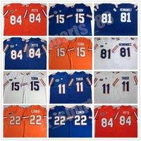 Florida Gators Football Stitched Jersey 11 Kyle Trask 84 피츠 15 Tim Tebow 22 Emmitt Smith-e.smith 81 Aaron Hernandez Blue