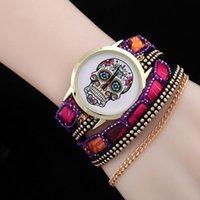Наручные часы Мода Национальный Стиль Браслет Часы Череп Ожерелье Заклепки Ногтей Леди Богемные Женщины Часы Подарок для