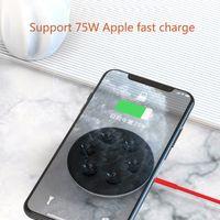 Cargador inalámbrico de la ventosa para iPhone XR XS Samsung Portátil Pad de carga rápida Absorción 5W 10W