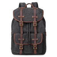 Backpack Multifunctional Large Capacity Durable Outdoor Canvas Laptop Leisure