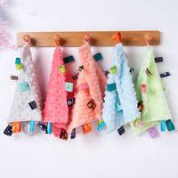 Mendiller Pamuk Katı Renk Karikatür Baskı Tükürük Havlu Bebek Erkek Kız Üçgen Havlu