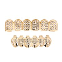 Hip Hop Teeth Grillz Fashion Top Bottom Faux Dental Tooth Braces Grills Gold Silver Plated Teeth Brace for Women Rapper Body Jewelry Gift