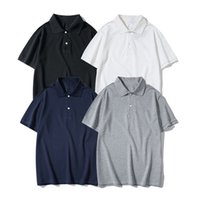 Moda Polo Gömlek Avrupa Amerikan Yaz Serin Erkekler Ve Kadınlar Çiftler Yüksek Kaliteli Pamuk Kısa Kollu İşlemeli M-XXL