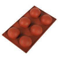 Maldas esferas de jabón de silicona Moldes de jabón para hornear Cake Decoración Herramientas Pudín Jelly Chocolate Fondant Molde Forma de bola Bolsa Herramienta GWE6571