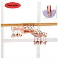 Hangers & Racks Metal Rose Gold Non-slip Hanger For Underwear Bra Clothes Clothespin Socks Panties Clip Wardrobe Storage Organization
