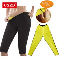 CXZD Women Shapewear Weight Loss Hot Neoprene Sauna Sweat Pants Workout Thighs Slimming Leggings Body Shaper