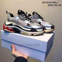 Triple S 20FW Männer Frauen Mode Schuhe Plattform Sneakers Schwarz gezüchtet Weiß Grün Grey Herren Trainer Lässig Vintage Schuh