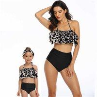 Swimwear 2021 Family Matching Swimsuit Mother Girl Bikini Women Children Baby Kid Beach Womens Swim Wear Tankini Maillot De Bain