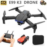 Cámara de avaro Mini Global Veesee99 UAV HD Fotografia aérea plegable Four Axis 4K Doble cámara Juguete K3 Control remoto Avión DroneFoldabl